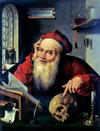 <p>Joos van Cleve, <em>St. Jerome</em>, late 16th century<br/><small>collection of The Moravian Gallery in Brno</small></p>